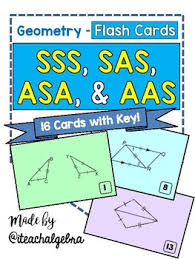 geometry sss sas asa aas hl and ll proof congruence flash cards
