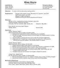 Remarkableience Teacher Resume Format Templates Political Computer ...