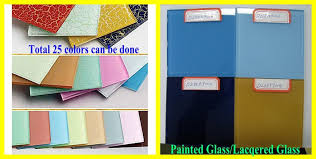 china 3mm 6mm double coated painted glass lacquered glass varnished glass sheet supplier china back painted glass painted glass