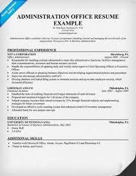 find administrative officer job resume samples