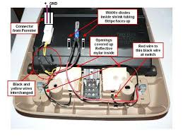interior light merged th page subaru forester owners forum while the forester body itself is wired according to the diagram in the map light assembly the black wire