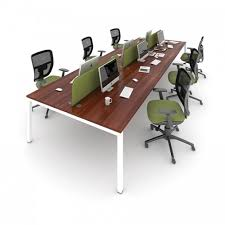 person office desk. Bench Desk - 4 Person Office