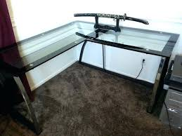 glass corner desk desk how to build a corner desk from scratch easy build glass corner glass corner desk