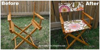 amazing director s chair frame for just 3 50 so using just 1 2 yard of urban blossom fabric i was able to make a new seat and back for this chair