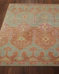 gem hand tufted rug spice teal