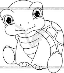 Small Picture Turtle Coloring Page vector clipart