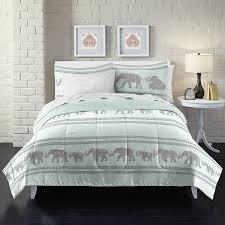 boho elephant ultra soft microfiber comforter set twin light blue 100percent polyester microfiber by loft style com