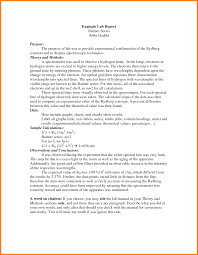 Example Of A Lab Report Lab Report Example Rome Fontanacountryinn Com