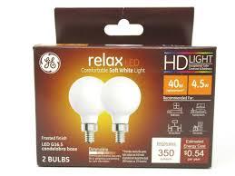 5 Light Bulb Lamp Ge Relax Hd Led G16 5 Light Bulb Candelabra Base 4 5 Watt Replaces 40 Watt 45711