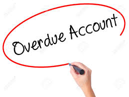 Overdue Account Women Hand Writing Overdue Account With Black Marker On Visual