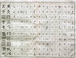 Hiragana Number Chart Early Chart Of Hiragana And Katakana Variant Edited Prob