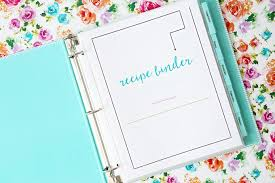 recipes binder cover. Simple Binder Free Printable Recipe Binder Throughout Recipes Cover D