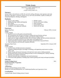 9 Welding Resume Examples Quit Job Letter