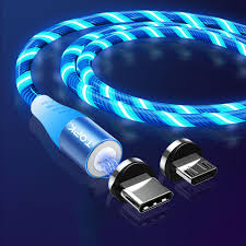 Glow Pro Lighting Topk 5a Led Flow Glow Lighting Magnetic Type C Micro Usb Data Cable For Xiaomi Mi9 Huawei Mate30 5g Pro Pocophone F1 Note10 5g