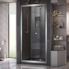 semi frameless bi fold shower door in chrome