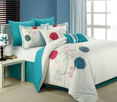 full size of 8pc luxury bedding set lucile white teal pink blowoutbedding com grey and a