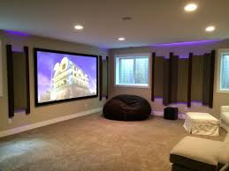 Basement Home Theater Lighting Basement Theater Features 4k Acoustic Panels And Led