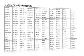 Read The Bible In A Year Chronological Chart 2 Year Bible Reading Plan