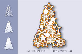 Free snowflake christmas tree vector download in ai, svg, eps and cdr. Christmas Tree Snowflakes 3d Graphic By 2dooart Creative Fabrica