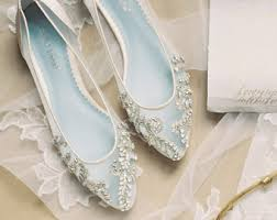 glass wedding shoes. beautiful wedding flats with opal and crystal beading bridal shoes - glass slipper \u0027something