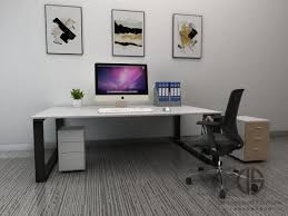 large office desks. Office Furniture, Modern White Large Desks; Environmental Friendly  Fiberboards; Can Be Customized Large Office Desks