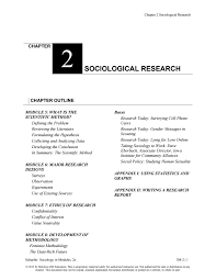 Sociological Research Sociology In Modules 2nd Edition By Schaefer Solution Manual