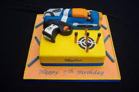 Nerf Gun Cake for 5th Birthday Cake Creations by Sue