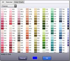 Cosmo Floss Color Chart Kg Chart Stitchsketch Blog Ikuta Software Design Studio