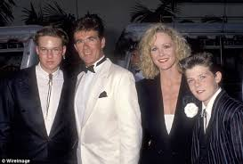 alan thicke robin thicke. Contemporary Thicke Alan Thicke And Sons Brennan Robin Costar Joanna Kerns Attend An  Event Inside