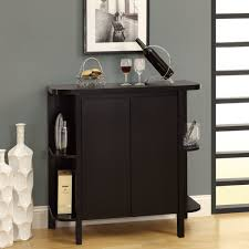 grey wall mini bar furniture for home bined with wooden floor and black cabinet it also has sliding door that can add the beauty inside room design ideas