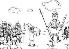 David And Goliath Coloring Pages And Coloring Page Pages Bible Story