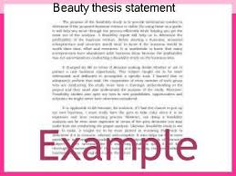 Beauty thesis statement
