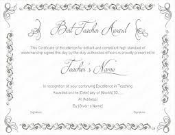 Best Teacher Award Template Best Teaching Performance Award Certificate Template