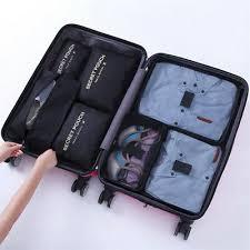 7 <b>Waterproof Packing</b> Cube <b>Compression</b> Clothes Storage Bag ...