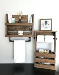 Galvanized Magazine Holder Interesting Industrial Bathroom Storage Bathroom Shelf With Pipe Towel Bar And