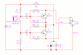 powering microphones balanced electret microphone circuit