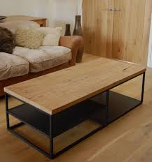 Metal Coffee Table Frame Oak And Metal Coffee Table With Royal Oak Wood And Iron Base