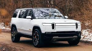Rivian R1S Electric SUV In White ...