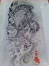japanese tiger tattoo drawing. Contemporary Drawing Tiger Tattoo Sketch In Japanese Tattoo Drawing E