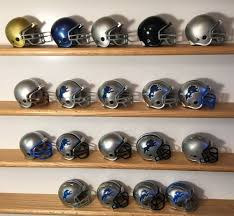 Remember those long ago days when wearing a helmet was optional and not required to ride? 19 Detroit Lions Complete Nfl Helmet History Riddell Pocket Pro 2 Two Bar Riddell Detroitlions Detroit Lions Nfl Vintage Football