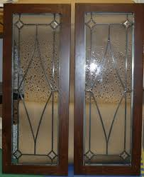 leaded glass cabinet door designs