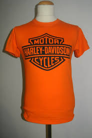 harley davidson logo orange t shirt t shirt by mail