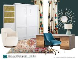eclectic design home office. A Warm And Modern Home Office (with Dark Teal Walls!) By Interior Designer Eclectic Design