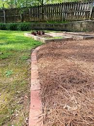 laying brick edging in your garden
