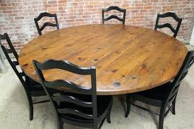 60 inch table brick wall design with large inch round table set using black ladder back 60 inch table