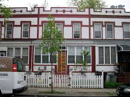 before row house painting in brooklyn