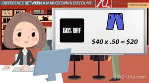 how to calculate markdown