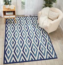nourison grafix grf18 geometric rug white blue contemporary area rugs by arearugs