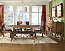 dining room table with upholstered bench. Intercon Santa Clara Counter Height Gathering Table With Self-Storing Leaf | Wayside Furniture Pub Dining Room Upholstered Bench T