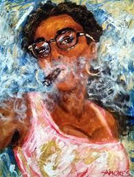 Pin by PROJECT LIFESTYLE on Keep Calm & Have A Cigar   Black women art,  Cigar art, Female art